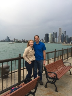 View of Chicago from end of Navy Pier