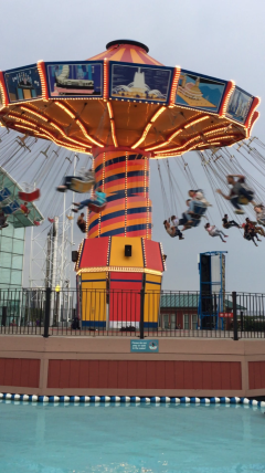 One the many carnival-type rides at the Navy Pier
